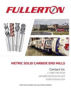 Fullerton Metric End Mill Catalog